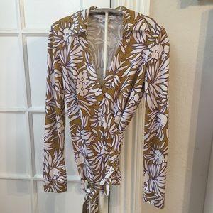 Diane Von Furstenberg new Jeanne wrap floral top 6